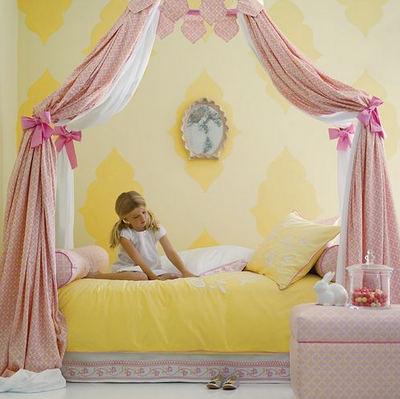 Pink and Yellow Baby Girl Nursery Decorating Ideas |