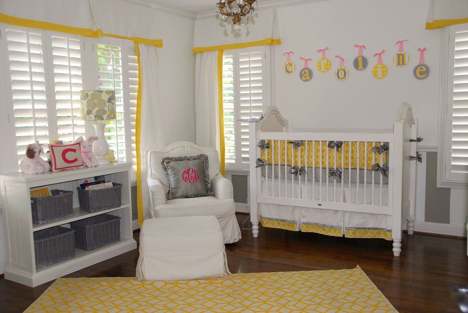 Yellow And Grey Baby Nursery