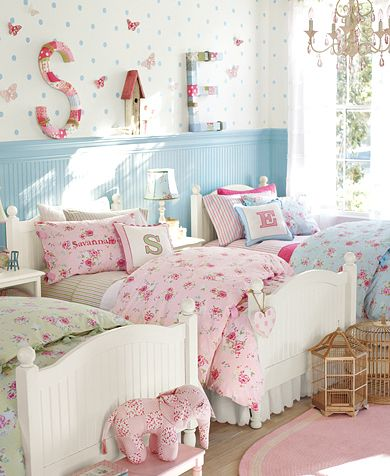 Pottery barn kids savannah bedding and matching wall letters for Pottery barn kids room ideas